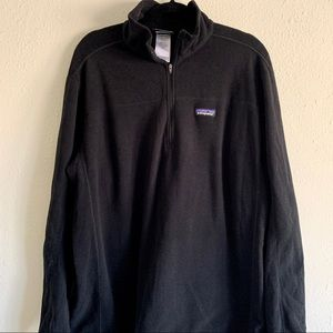 $159 Patagonia Pullover Fleece Black Large Sweater